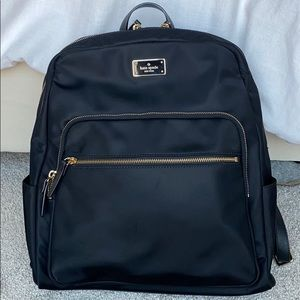 Kate Spade Nylon Laptop Backpack Bag Black